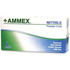 Ammex Nitrile Exam gloves: Large, non-sterile, powder-free, Micro-textured