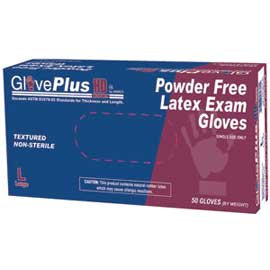 GlovePlus HD Latex Gloves Heavy Duty: Large, Powd
