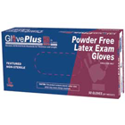 GlovePlus HD Latex Gloves Heavy Duty: Large, Powder-Free, Textured, Beaded Cuff, Ambidextrous