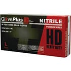 GlovePlus HD Nitrile exam gloves heavy duty: X-Large, Powder-Free, Textured, Beaded Cuff