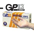 GPX3 Vinyl Gloves Industrial Grade: X-Large, powder-free, beaded cuff, 3 mil