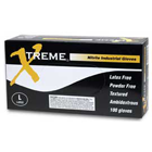 Xtreme Nitrile gloves: LARGE, powder-free, textured, beaded cuff, industrial