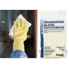 Ansell Latex Housekeeping Gloves: Large, Reusable, Flocklined