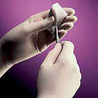 Micro-Touch Elite Vinyl glove: Small, Non-Sterile, Powder-Free. Box