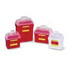 BD Nestable Sharps Containers 24 Quart (6 Gallon), Red Base with Natural Top
