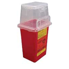 BD Sharps Collector 1.5 Qt. Removal Port Top, Red