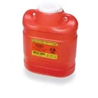 BD Sharps Collector Medium 6.9 Qt. Regular Funnel, Red