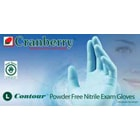 Contour Nitrile Exam gloves: Non-Sterile, Powder-Free, Blue, box of 100 Large