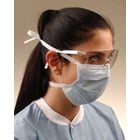 Crosstex Surgical Blue Surgical Tie-On Face Mask, Fluid Resistant with BFE >