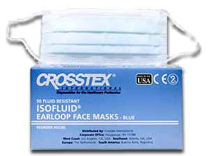 Isofluid Earloop Masks - Topaz, Fluid Resistant O