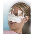Patient Safety Mask with Shield, White, Fluid Resistant, Latex-Free. Box of 25 masks