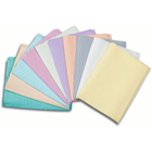 "Polyback Peach Patient Bibs plain rectangle (13"" x 19"") 3 Ply Paper/1 Ply Poly"