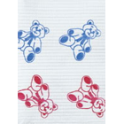 "Polyback Teddy Bear print Patient Bibs plain rectangle (13"" x 19"") 3 Ply"
