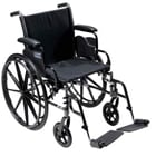"Cruiser III 20"" Wheelchair, Flip Back Detachable and Adjustable Height Desk"