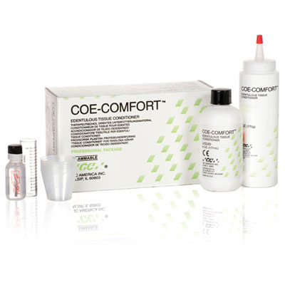 Coe-Comfort Tissue Conditioner Professional Package: 6 oz  Powder and 6 oz