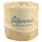 "Preference Embossed Bathroom Tissue, 2-Ply, White, 4.00"" x 4.05"", 550 sheets"