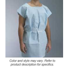 "Graham Exam Gown, Open, 30"" x 42"" Knee-length, Tissue/Poly/Tissue"