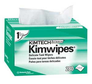 "KimWipes 4.5"" x 8.45"" White Delicate Task Wipers,"