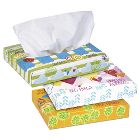 "Kleenex Junior Facial Tissue, 2-Ply, 8.4"" x 5.8"" White, Flat Box, 40 Tissues"