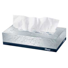 "Kleenex White 2 ply Facial Tissues 9"" x 8"", Flat Box of 100 Tissues"