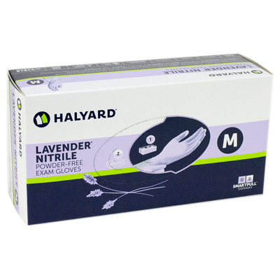 Lavender, Nitrile Exam Gloves: SMALL 250/Bx. Powd