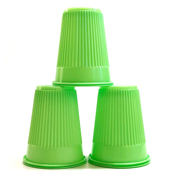 House Brand Green 5 oz. Plastic Cups, Case of 100