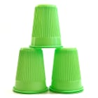 House Brand Green 5 oz. Plastic Cups, Case of 1000