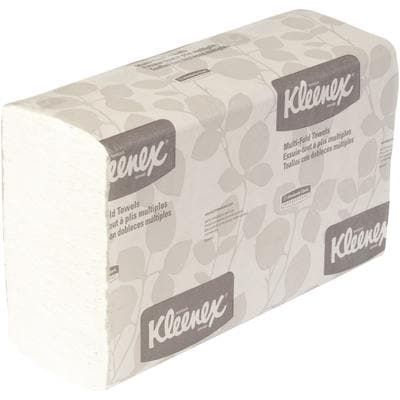 "Kleenex 9.2"" x 9.4"" Multi-Fold Towels, White, Cas"