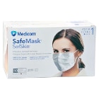 Safe+Mask Sof Skin Earloop Mask BLUE 50/Pk Fluid Resistant. Extra soft