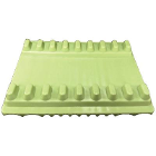 "Plasdent Instrument Mat - Small, Green 5-3/16"" x 4-1/8"", Reversible, 8 or 12"