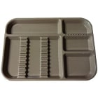 "Plasdent Set-up Tray Divided Size B (Ritter) - Beige, Plastic, 13-1/2"" X 9-5/8"""