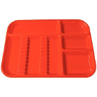 "Plasdent Set-up Tray Divided Size B (Ritter) - Flame, Plastic, 13-1/2"" X 9-5/8"""