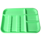 "Plasdent Set-up Tray Divided Size B (Ritter) - Neon Green, Plastic, 13-1/2"" x"