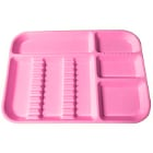 "Plasdent Set-up Tray Divided Size B (Ritter) - Neon Pink, Plastic, 13-1/2"" x"