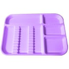 "Plasdent Set-up Tray Divided Size B (Ritter) - Neon Purple, Plastic, 13-1/2"" x"