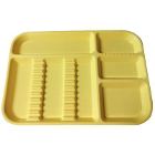"Plasdent Set-up Tray Divided Size B (Ritter) - Neon Yellow, Plastic, 13-1/2"" x"