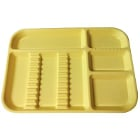 "Plasdent Set-up Tray Divided Size B (Ritter) - Yellow, Plastic, 13-1/2"" X"