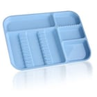 "Plasdent Set-up Tray Divided Size B (Ritter) - Blue, Plastic, 13-1/2"" X 9-5/8"""