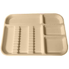 Plasdent Set-up Tray Divided Size B (Ritter) - Pastel Vanilla, Plastic, 13-1/2""