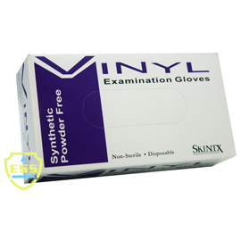 SkinTx Vinyl Exam Gloves: X-SMALL, non-sterile, p