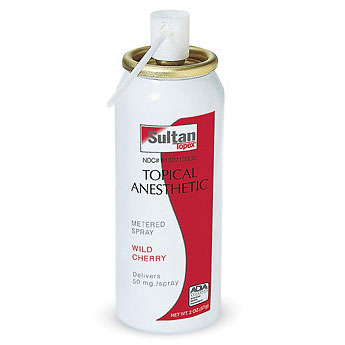 Topex Topical Anesthetic Metered Spray. Wild Cher