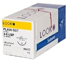 "Look 4/0, 18"" Plain Gut absorbable suture with re"
